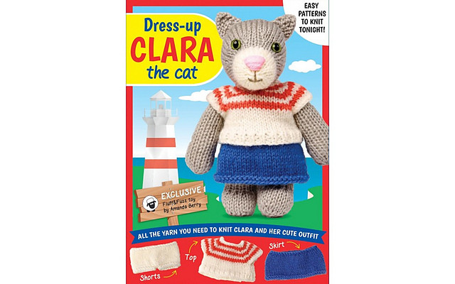 Dress Up Clara The Cat Knitting Kits-image not found