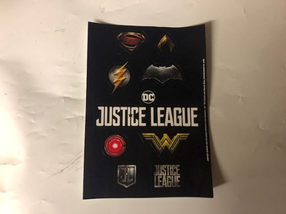 Justice League Sticker Sheet-image not found