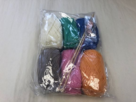 Knitting Kit with Needles & Wool-image not found